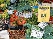 Vegetables stall in city market Stock Photography
