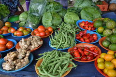 Vegetables stall Stock Image