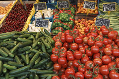 Vegetables stall Royalty Free Stock Image