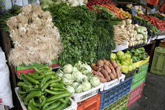 Vegetables stalll in haifa Stock Images