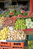 Vegetables stalll in haifa Stock Image