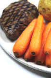 Vegetables and steak Royalty Free Stock Image