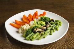 Vegetables steamed stock images