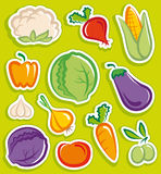 Vegetables stickers Royalty Free Stock Photography