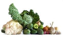 Vegetables still life food theme. Isolated Stock Photos
