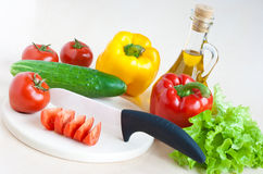 Vegetables still life - healthy food concept Stock Images