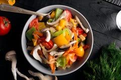 Vegetables stir fry Royalty Free Stock Photography