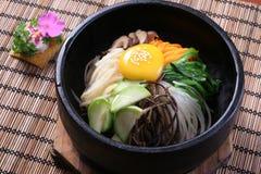 Vegetables stone rice. China Korea food background Royalty Free Stock Photo