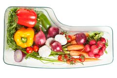 Vegetables stored in a refrigerator Stock Photography