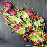 Vegetables and strawberries bouquet Royalty Free Stock Images