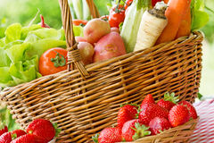 Vegetables and strawberry Stock Image