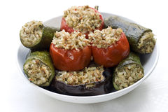 Vegetables stuffed with rice Royalty Free Stock Images