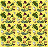 Vegetables summer seamless texture. Vegetables summer colored Royalty Free Stock Image