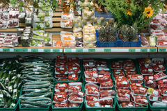 Vegetables in supermarket Stock Photo