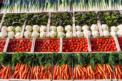 Vegetables in supermarket Royalty Free Stock Images