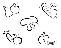 Vegetables symbols Royalty Free Stock Photos