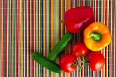 Vegetables on the table. Juicy and ripe vegetables on the table Royalty Free Stock Photo
