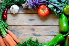Vegetables on table background. Stock Photography