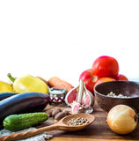 Vegetables on the table 3. Fresh organic vegetables on the table before cooking process Royalty Free Stock Image