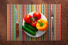 Vegetables on the table. Fresh vegetables are the poppet, on the table Royalty Free Stock Photos