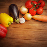 Vegetables  on table Stock Photos