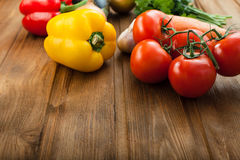 Vegetables on table Stock Image