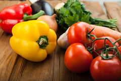 Vegetables on table Royalty Free Stock Photos