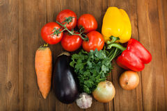 Vegetables on table Royalty Free Stock Image