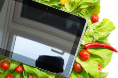 Vegetables and a Tablet PC Royalty Free Stock Photo