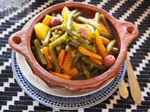 Vegetables tagine dish Stock Images