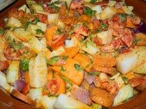 Vegetables in a tajine. Tajine of vegetables Stock Photos