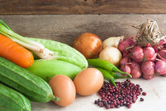 Vegetables in Thai cuisine Stock Images