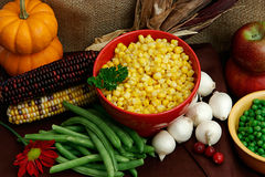 Vegetables For A Thanksgiving Feast Royalty Free Stock Photos