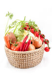 The vegetables together. Different vegetables such as carrots, tomatoes, peppers, chicory, garlic Royalty Free Stock Image