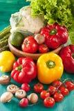 Vegetables tomato pepper avocado asparagus cauliflower lettuce Royalty Free Stock Photography