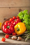 Vegetables tomato pepper avocado lettuce asparagus Stock Photo