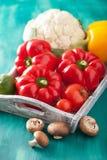Vegetables tomato pepper mushroom cauliflower Royalty Free Stock Photography