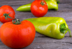 Vegetables tomato and pepper Stock Photography