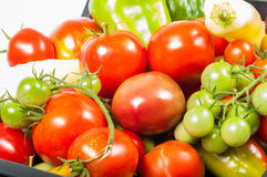 Vegetables tomatoes and pepper Royalty Free Stock Images
