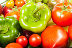 Vegetables tomatoes and pepper Royalty Free Stock Photos