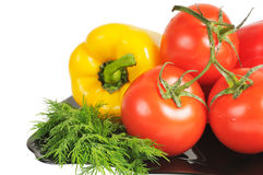 Vegetables - Tomatoes, peppers Royalty Free Stock Photography