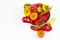 Vegetables from top. Copy space available, colorful vegetables stock photo