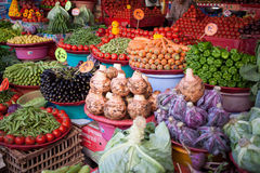 Vegetables. In traditional market of alexanria, egypt Stock Image