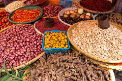 Vegetables on traditional market Royalty Free Stock Photos