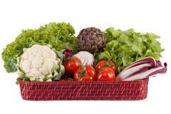 Vegetables on a tray Royalty Free Stock Images