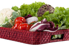 Vegetables on a tray Stock Images