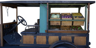 Vegetables truck, isolated Stock Images