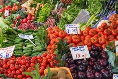 Vegetables on a turkish market Stock Photos