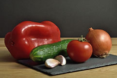 Vegetables. Typical vegetables of the Mediterranean cuisine Stock Photo