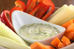 Vegetables with Tzatziki Royalty Free Stock Photos